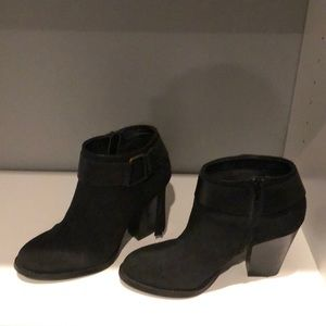 Kensie fringe leather bootie